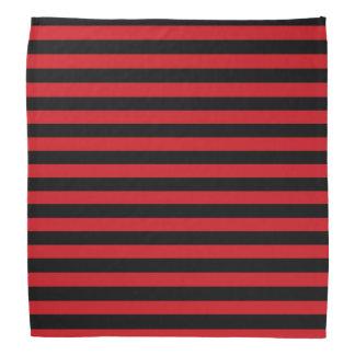 Rojo y pañuelo de las rayas negras bandana