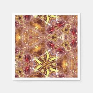 Rojo y servilletas del diseño del oro servilleta desechable