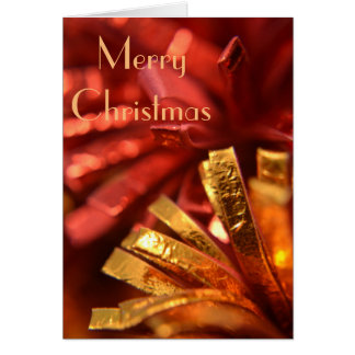 Rojo y tarjeta de Navidad del oro