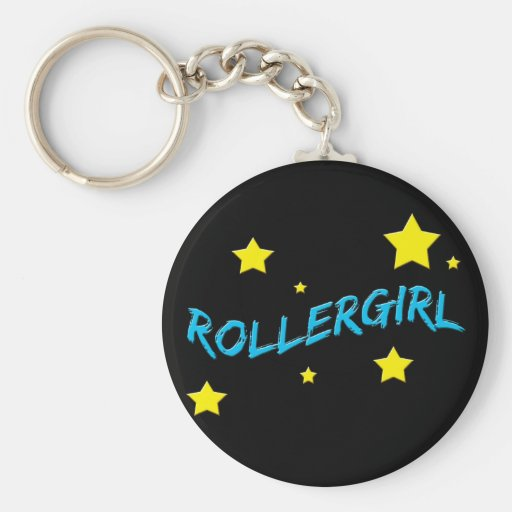 Rollergirl Llavero Personalizado