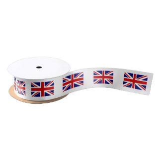 Rollo británico de la cinta del regalo del satén lazo de raso