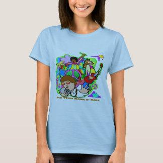 Rollo de antaño de N de la roca Camiseta
