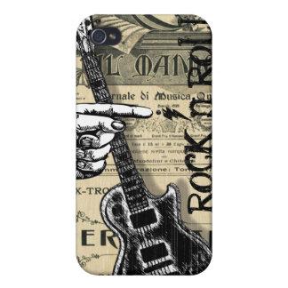 Rollo de la roca N de la partitura del vintage iPhone 4/4S Carcasa