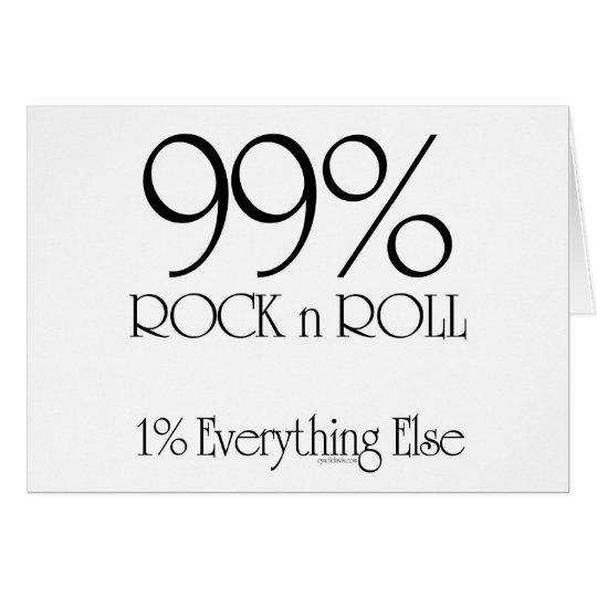 Rollo de la roca n del 99% tarjeta de felicitación