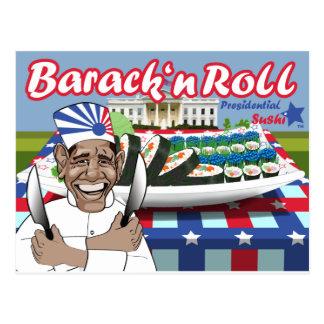 Rollo del n de Barack del sushi presidencial Postal