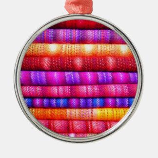 Rolls de telas coloridas ornamentos de reyes magos