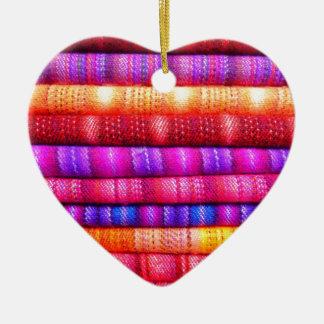 Rolls de telas coloridas adornos