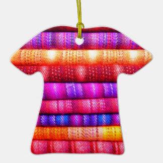 Rolls de telas coloridas ornamentos de reyes