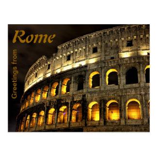 Roma - coliseo en la noche postal