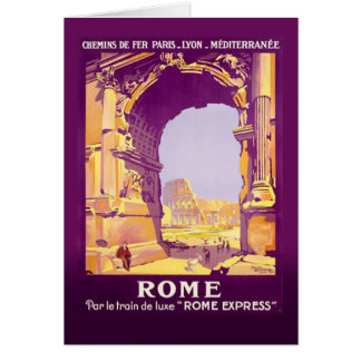 Roma expresa tarjeta de felicitación
