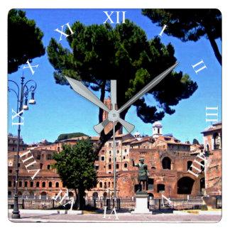 Roma Italia Reloj Cuadrado