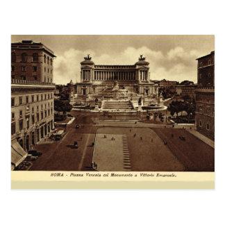 Roma, plaza Venezia Postal