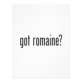 romaine conseguido tarjetas informativas