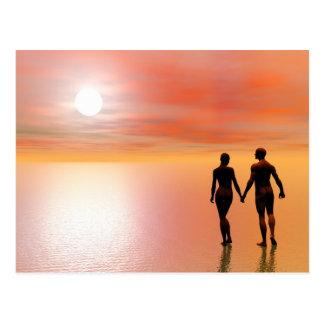 Romance de los pares - 3D rinden Postal
