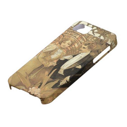 Romance del amor del vintage, arte Nouveau, Alfons iPhone 5 Carcasa