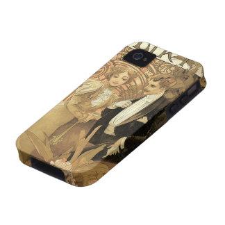 Romance del amor del vintage, arte Nouveau, Alfons Case-Mate iPhone 4 Carcasa