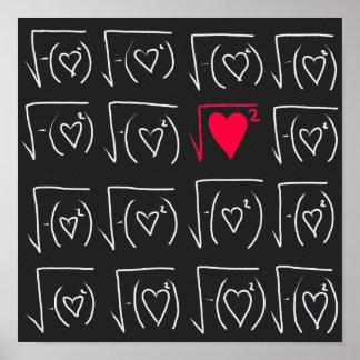 Romance del friki de la matemáticas: encuentre el póster