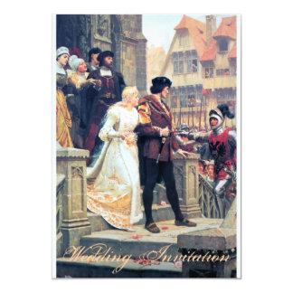 Romance medieval del boda invitación 12,7 x 17,8 cm