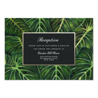 Romance/recepción tropicales invitación 8,9 x 12,7 cm