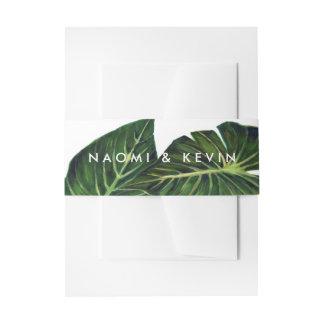 Romance tropical/abrigo cintas para invitaciones
