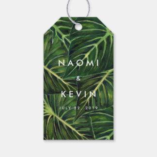 Romance tropical/etiqueta etiquetas para regalos