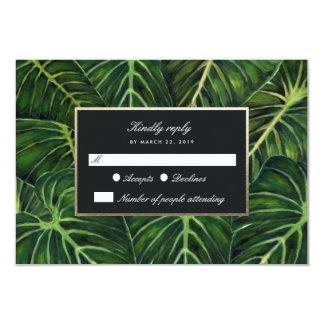 Romance tropical/RSVP Invitación 8,9 X 12,7 Cm