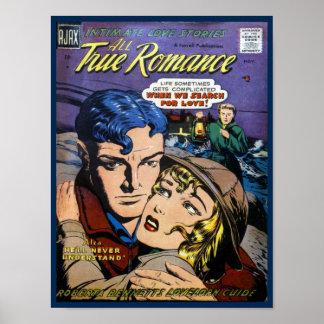 Romance verdadero póster