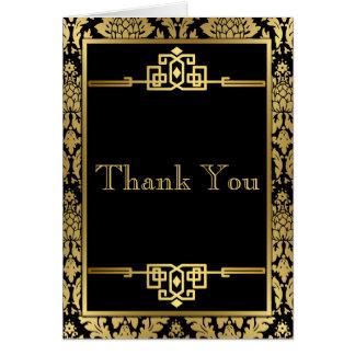 RomanceArt de oro DecoThank usted tarjeta de nota