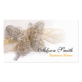 Romantic generic Business card with butterfly Tarjetas De Visita