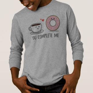 Romántico divertido usted me termina camisa con