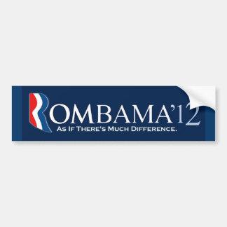 Rombama 2012: Como si haya mucha diferencia Pegatina Para Coche