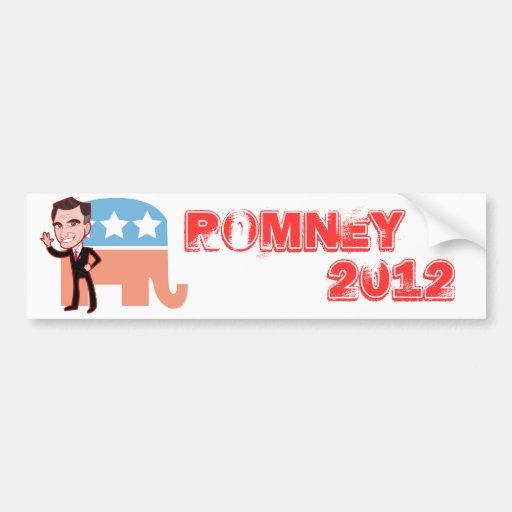 Romney 2012 etiqueta de parachoque