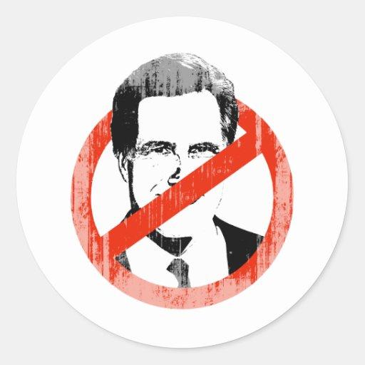Romney anti Faded.png Pegatinas Redondas