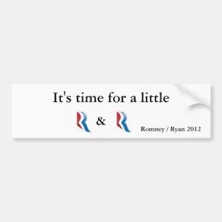 Romney Ryan 2012 Pegatina Para Coche