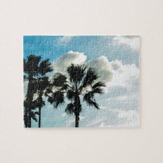 Rompecabezas 1 del cielo y de las palmeras de la