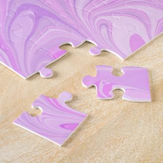 Rompecabezas abstracto de la fresa y de la crema