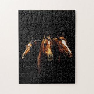 Rompecabezas árabe hermoso de los caballos