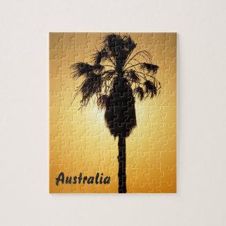 Rompecabezas australiano de la palma de fan