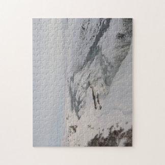 Rompecabezas: Cascada de Gullfoss en la nieve Puzzle