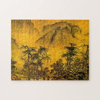Rompecabezas chino antiguo de la pintura de