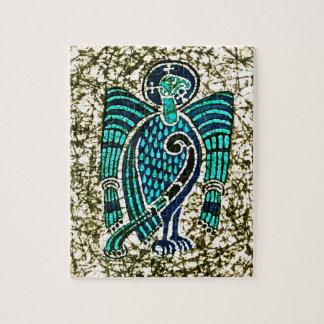 Rompecabezas con el libro del batik de Kells