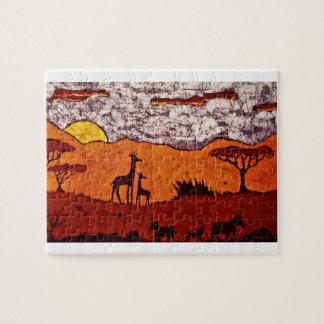 Rompecabezas con paisaje africano