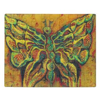 Rompecabezas de acrílico de la mariposa de oro con