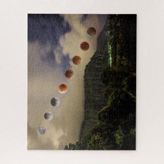 Rompecabezas de Hawaii del eclipse lunar de la