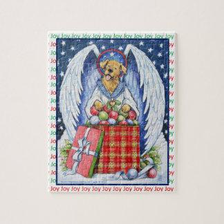 Rompecabezas de la alegría del navidad del oso