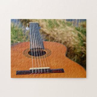 Rompecabezas de la foto de la guitarra/del