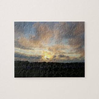 Rompecabezas de la foto de la puesta del sol del
