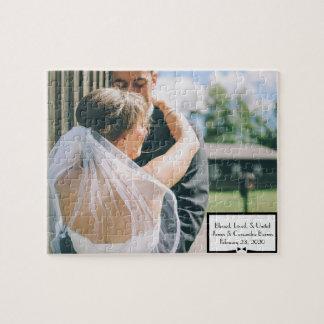 Rompecabezas de la foto del boda