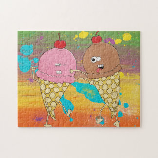 Rompecabezas de la lucha del helado