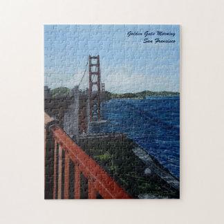 """Rompecabezas de la mañana del Golden Gate, 11"""" x"""